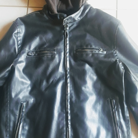 Levis Mens Leather Bomber Jacket